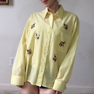 Vintage Bee Patch Garden Button Up Mili Designs